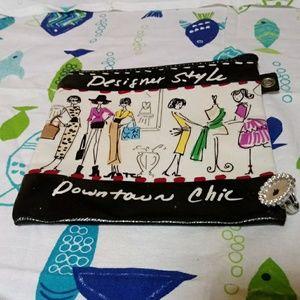 Multi-color Brighton makeup/accessories bag